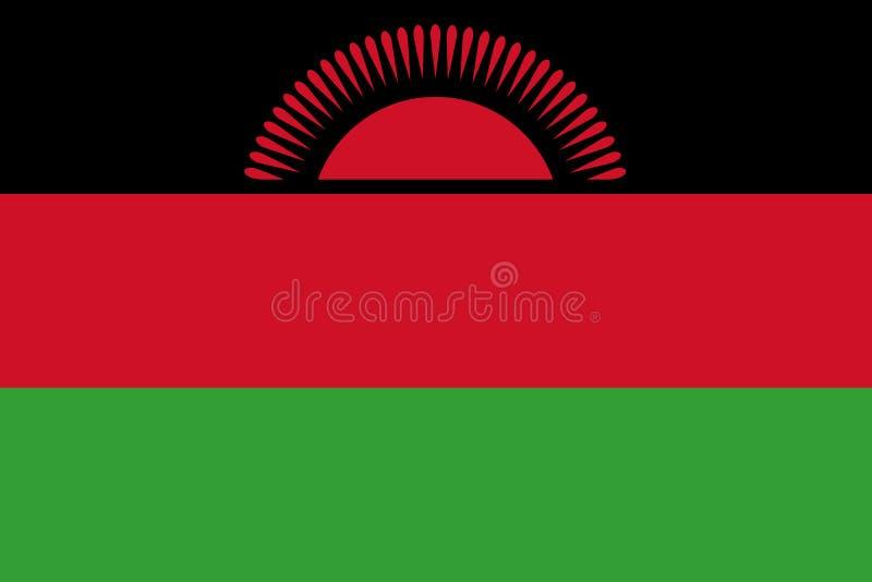 Malawi nationsflagga ocks? vektor f?r coreldrawillustration royaltyfri illustrationer
