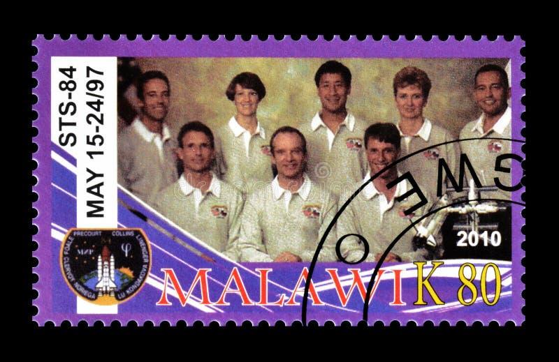 Malawi op postzegels royalty-vrije stock foto's