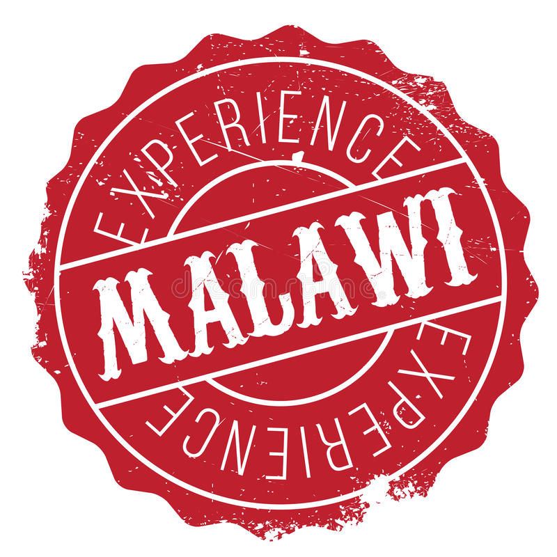 Malawi stamp rubber grunge. Malawi stamp. Grunge design with dust scratches. Effects can be easily removed for a clean, crisp look. Color is easily changed royalty free illustration