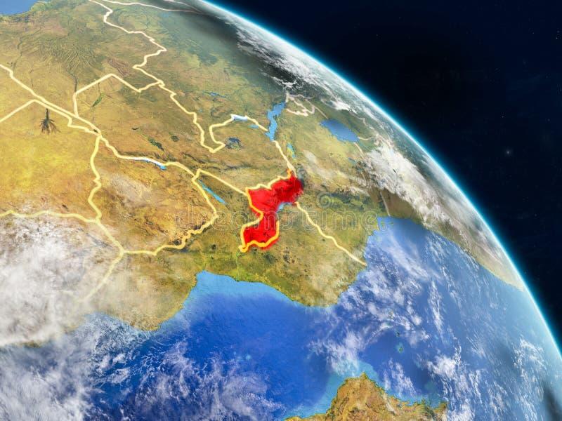 Malawi vom Raum lizenzfreie abbildung