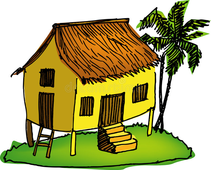 malay дома иллюстрация вектора