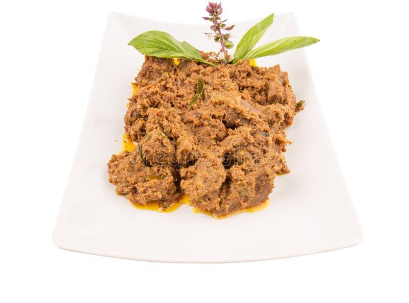 Malay Beef Rendang Dish I royalty free stock photography