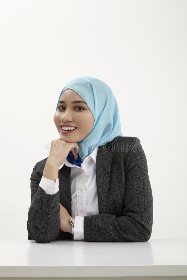Malay business woman stock photography