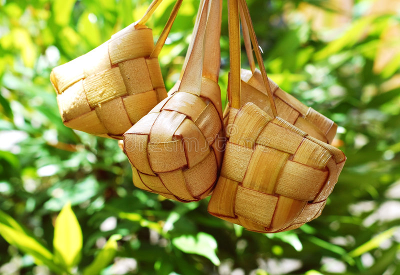 Malay compact glutinous rice royalty free stock images