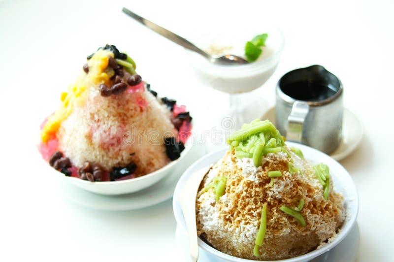 Malay Dessert. Tasty Malay dessert of Ais Kacang, Air Batu Campur and Sago royalty free stock photo