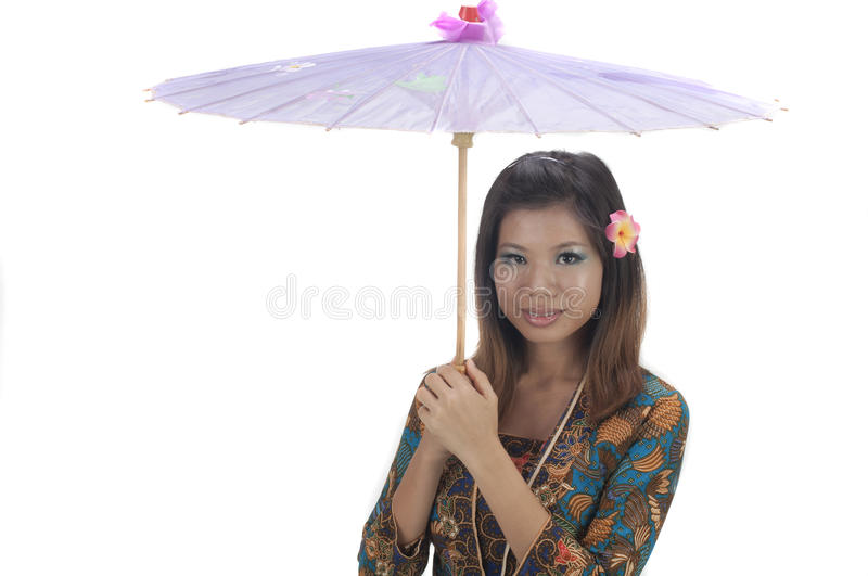 Malay girl royalty free stock photography