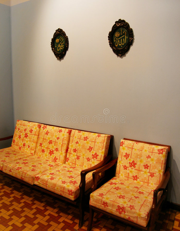Download Malay House Interior In Retro Style Stock Photo - Image: 5887674