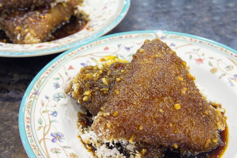 Malay Kueh Lopes крупный план десерта стоковое изображение rf