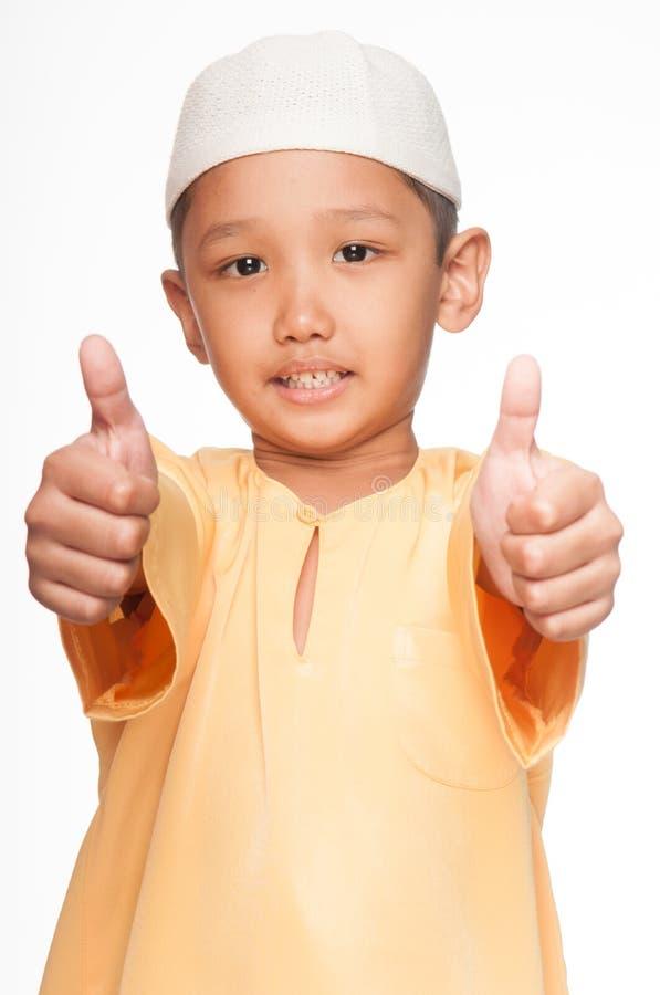 Cute Muslim Boy royalty free stock photos