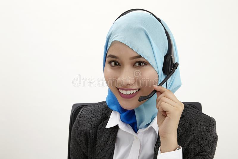 Malay receptionist, stock image
