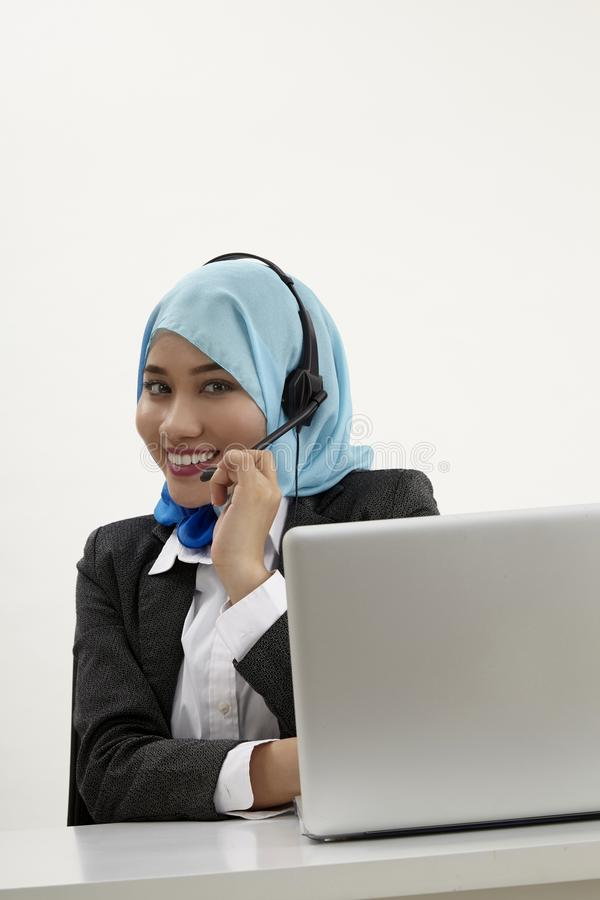 Malay receptionist, royalty free stock photos