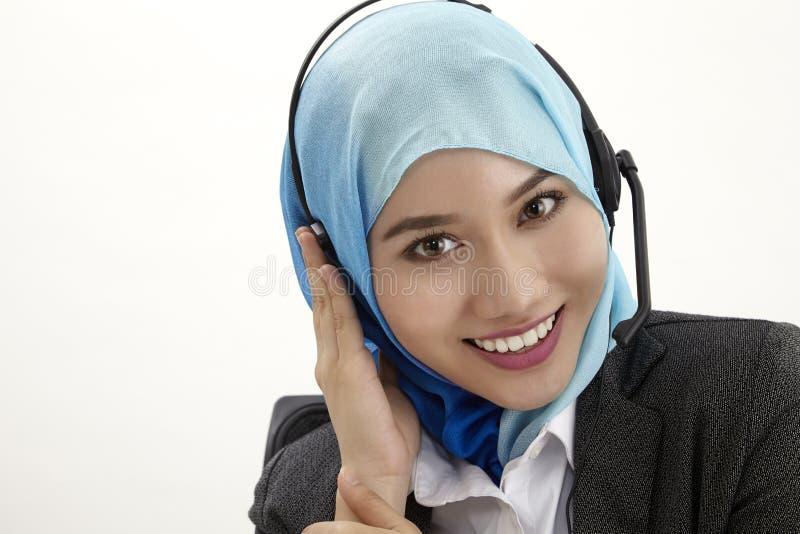 Malay receptionist, stock photos