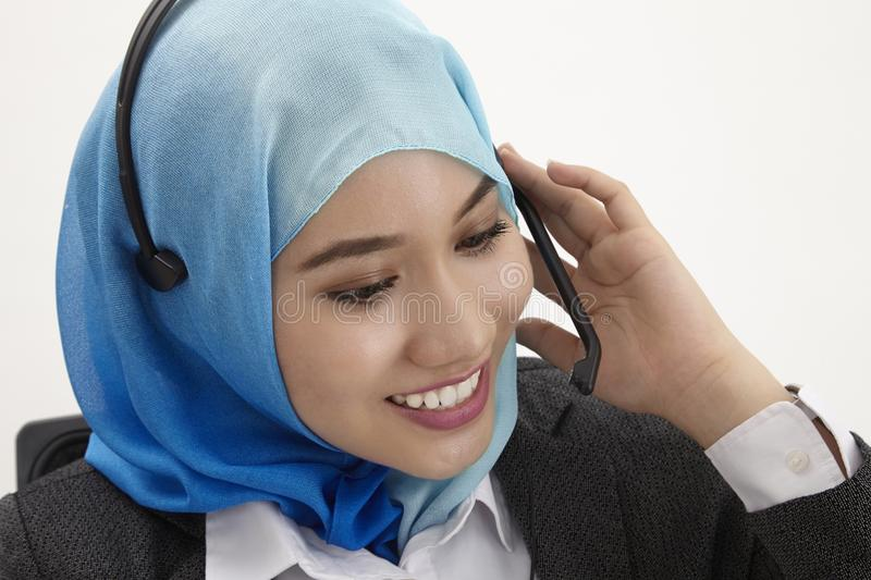 Malay receptionist, stock photo