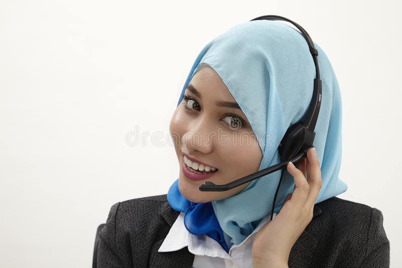 Malay receptionist, stock images