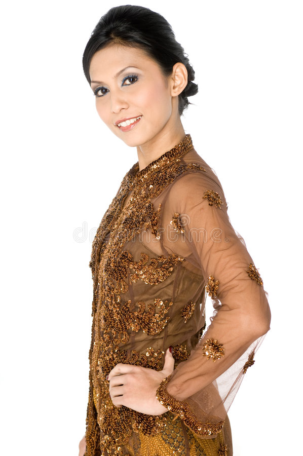 Malay traditional outfit stock photos