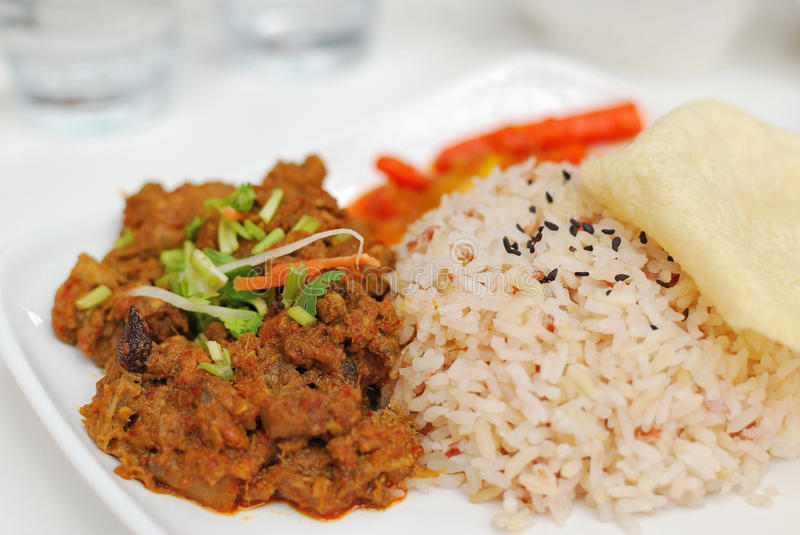 Download Malay Vegetarian Chicken Or Mutton Red Rice Stock Image - Image of menu, food: 13503617