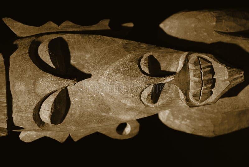 malayan plemienny scuplture drewna obraz royalty free