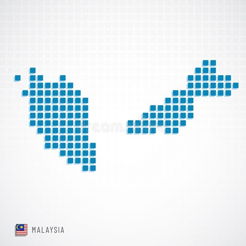 Malaysia översikt och flaggasymbol vektor illustrationer
