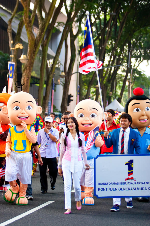 Malaysia 54th Independence Day Celebrations 2011 stock photography