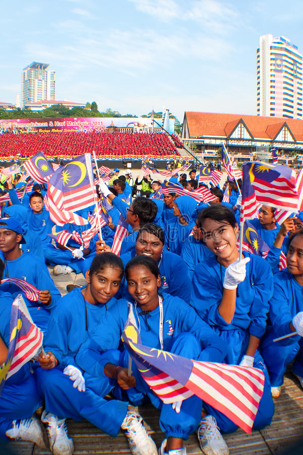 Malaysia 54th Independence Day Celebrations 2011 royalty free stock image