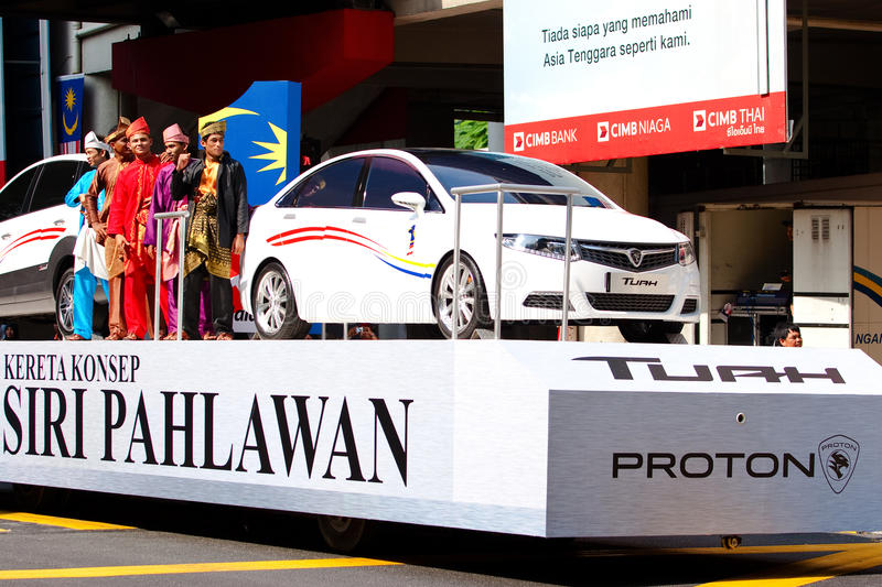 Malaysia 54th Independence Day Celebrations 2011 stock images