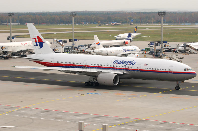 Malaysia Airlines B777. Image can be used todepict different articles regarding this company or alliance stock photos