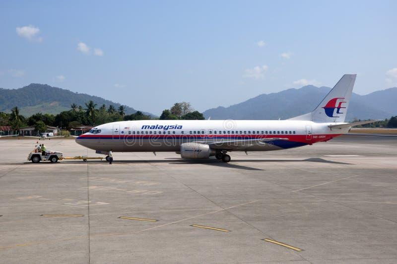 Malaysia Airlines Boeing 737 fotografía de archivo libre de regalías
