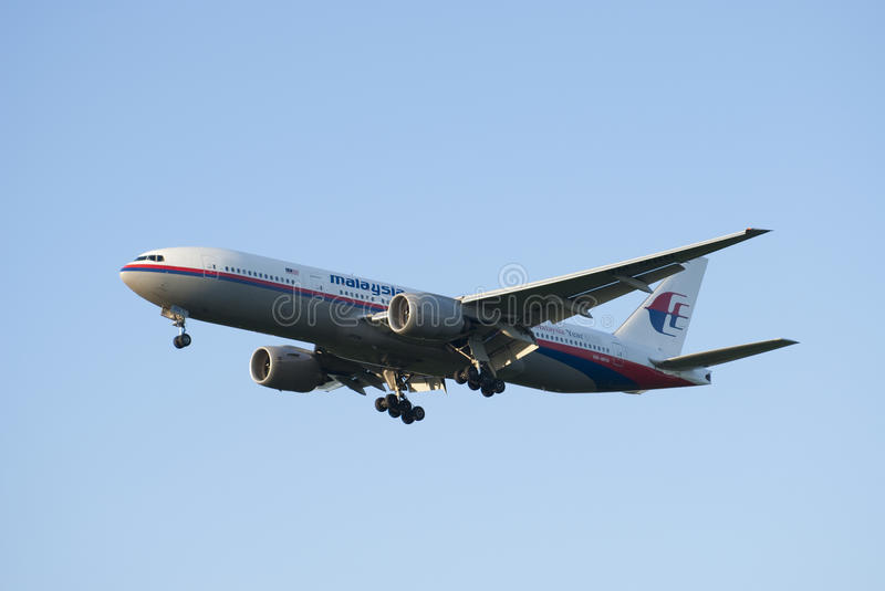 Malaysia Airlines, Boeing 777 stock photo