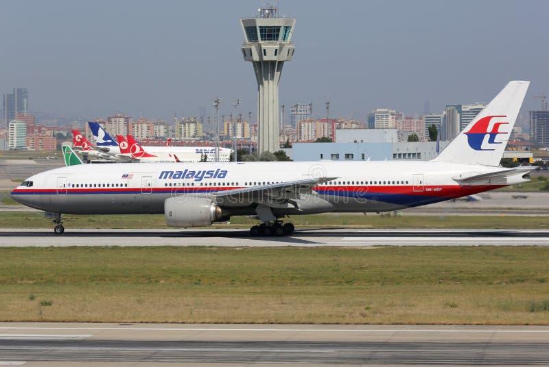 Malaysia Airlines Boeing 777-200 avions de soeur de missin plat photographie stock