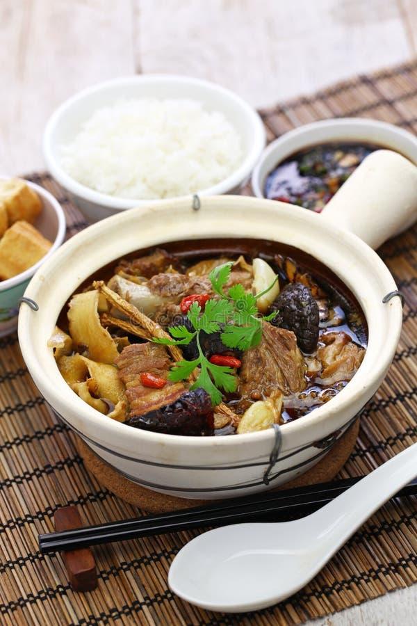 Malaysia bak kut teh. Traditional chinese herbal pork ribs soup stock photography
