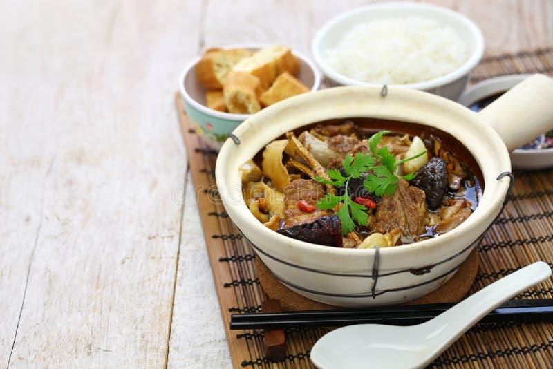 Malaysia bak kut teh. Traditional chinese herbal pork ribs soup royalty free stock photography