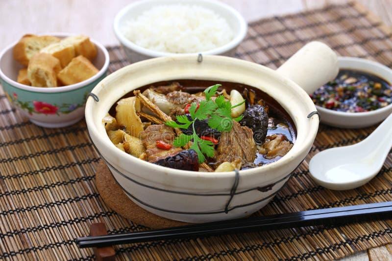 Malaysia bak kut teh. Traditional chinese herbal pork ribs soup stock photos