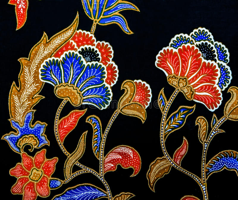 Malaysia Batik Pattern V Stock Image. Image Of Abstract