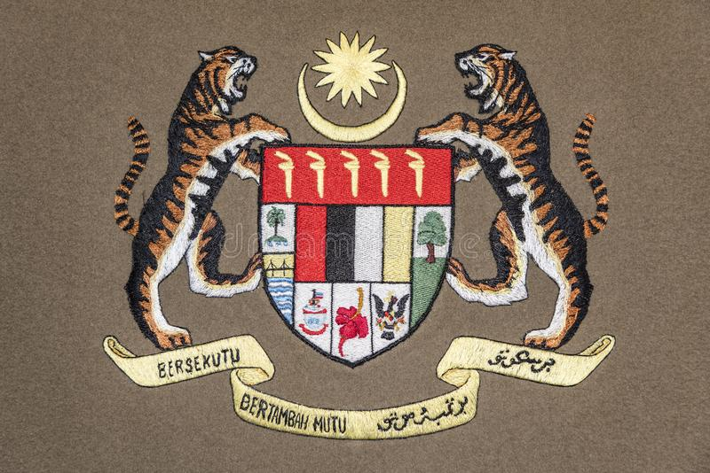 Malaysia coat of arms royalty free stock image