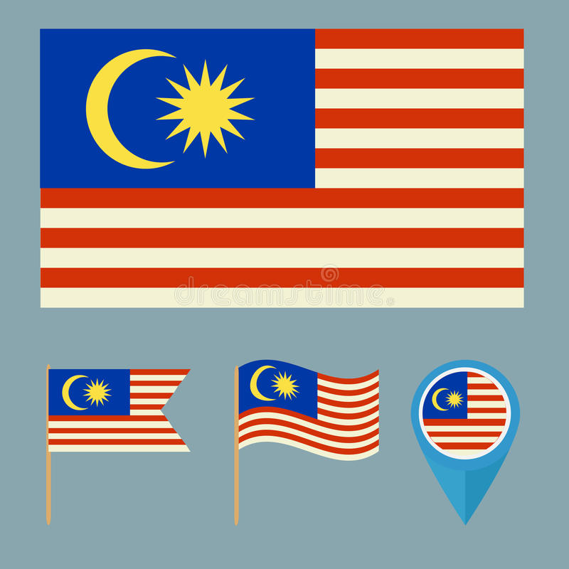 Malaysia Country: Malaysia. Country Flag Stock Illustration
