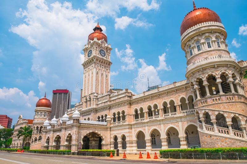 Malaysia, Dataran Merdeka. 2019, March 3rd, Malaysia, Kuala Lumpur - View of the Cityscape and Dataran Merdeka the historical place in the city stock image