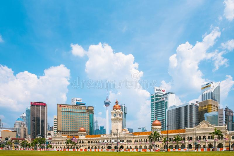 Malaysia, Dataran Merdeka royalty free stock photo