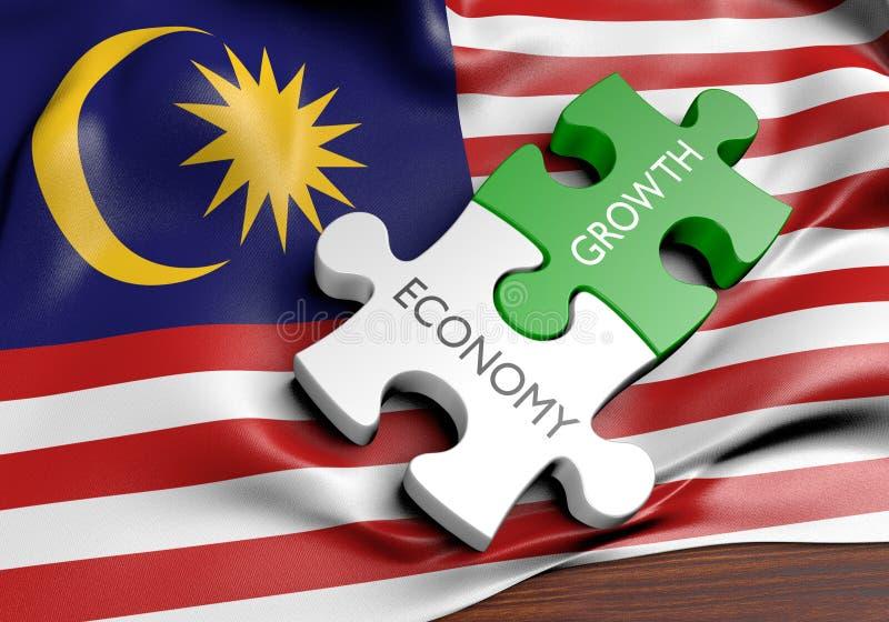 Malaysia ekonomi och finansmarknadtillväxtbegrepp royaltyfri illustrationer