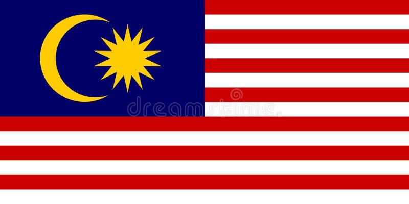 malaysia f?r bakgrundsflaggaillustration nationell white ocks? vektor f?r coreldrawillustration stock illustrationer