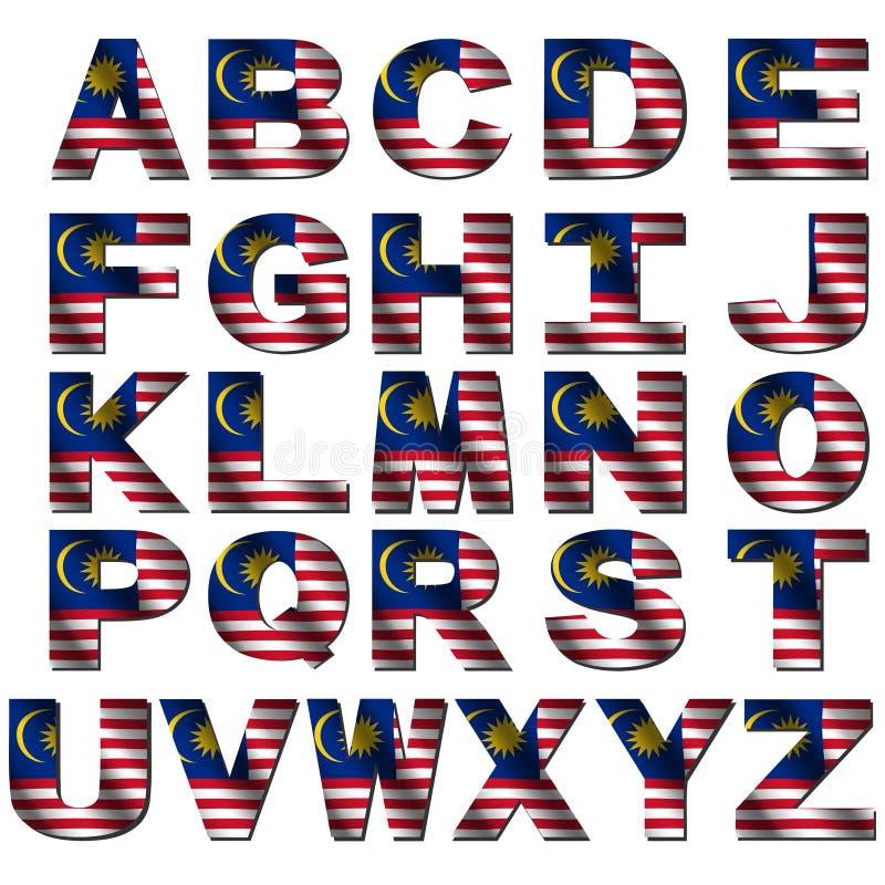 Malaysia flag font vector illustration
