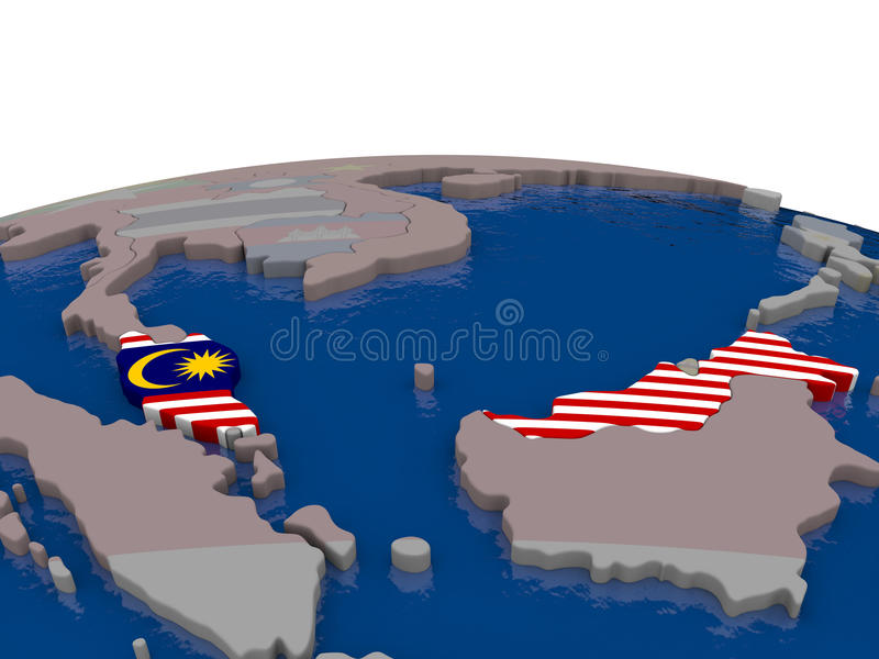 Download Malaysia With Flag Stock Illustration - Image: 83717331