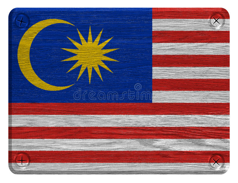 Malaysia flag. Painted on wooden tag stock photography