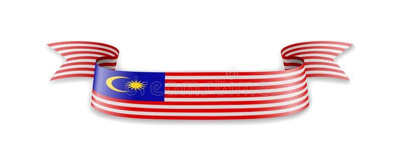 Malaysia flagga i form av v stock illustrationer