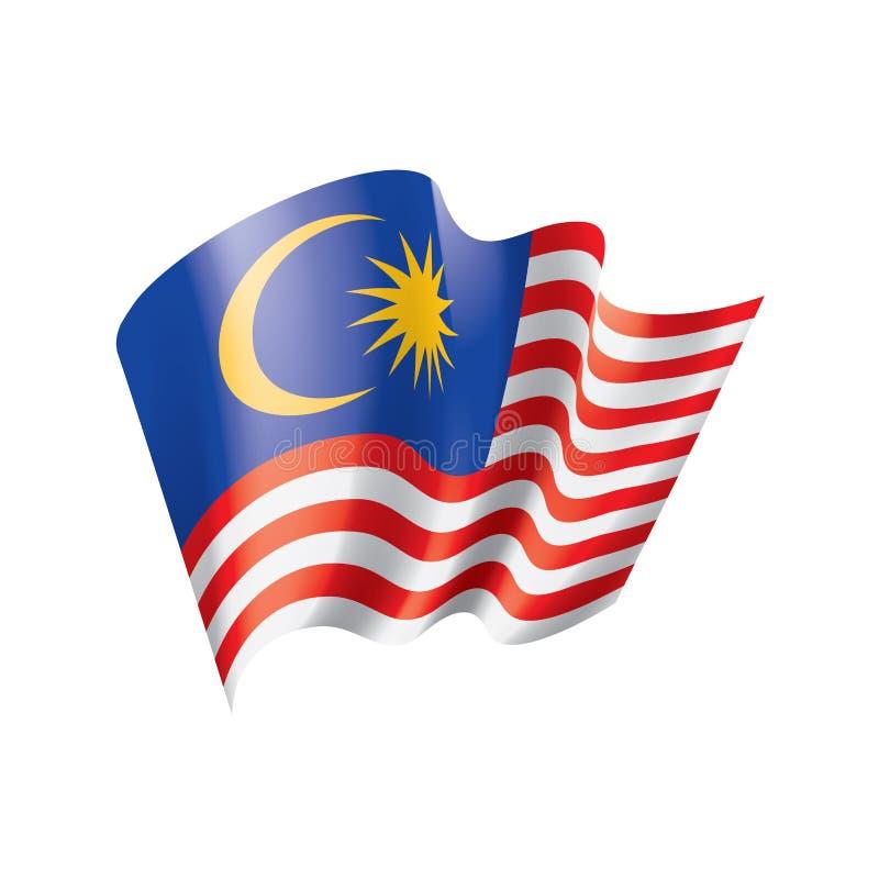 Malaysia flagga, vektorillustration royaltyfri illustrationer