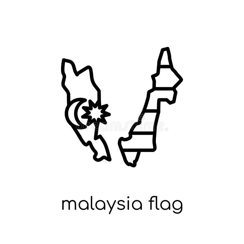 Malaysia flaggasymbol  vektor illustrationer
