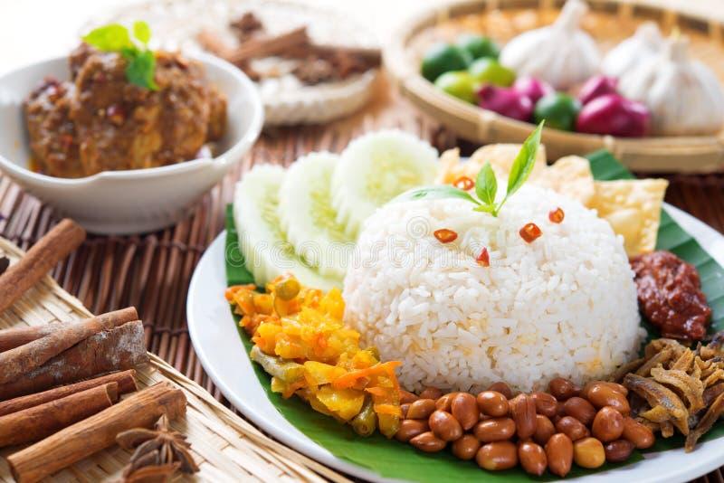 Malaysia Food Nasi Lemak Stock Image