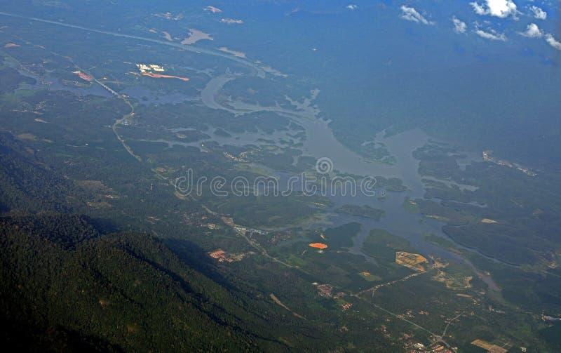 Malaysia från luften, Malaysia royaltyfri foto