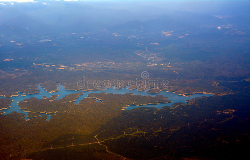 Malaysia från luften, Malaysia royaltyfri bild