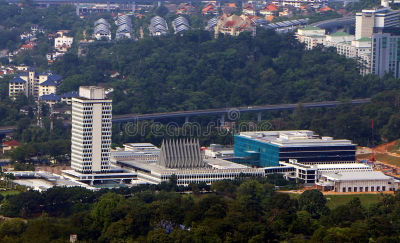 Malaysia House of Parliament. The construction was started in 1959 by Tunku Abdul Rahman, stock photo