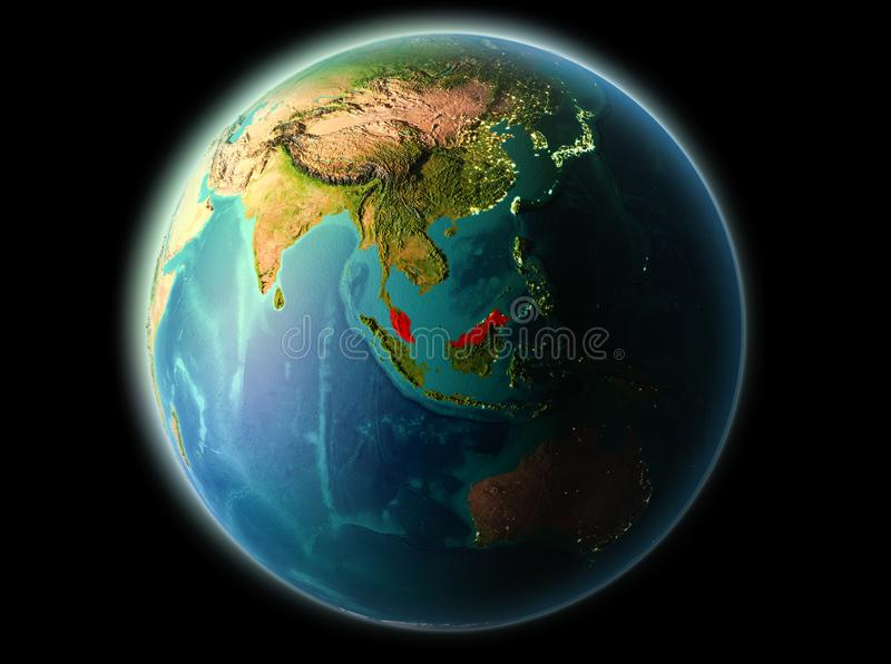 Malaysia i aftonen vektor illustrationer